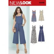 6446 New Look Pattern: Misses' Sleeveless Jumpsuits and Dresses